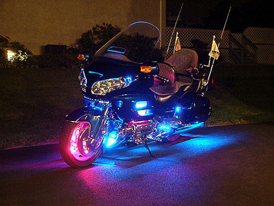 motorcycle-many-lights